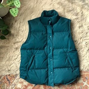 Eddie Bauer Teal Down Filled Puffer Vest